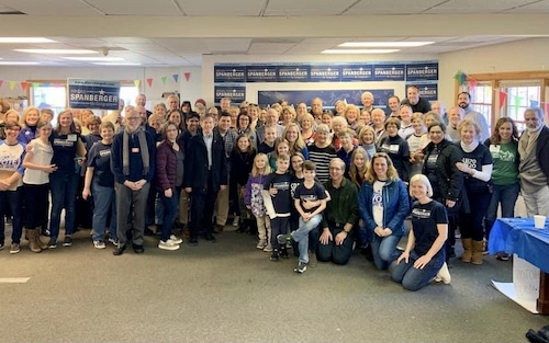 Volunteers at the Campaign HQ