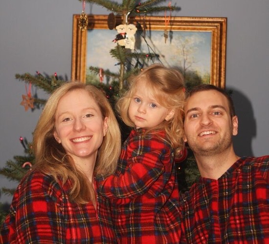 Our first Christmas PJ photo